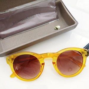 NWT BCBGMaxazria Clear Yellow Round Sunglasses